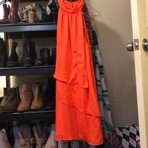 High neck flowy dress!